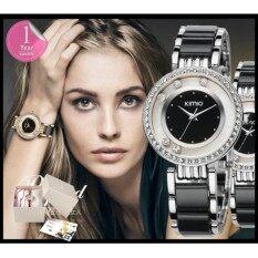 ขาย Kimio นาฬิกาข้อมือสุภาพสตรี ประดับคริสตัล รุ่น K485 สีดำ เงิน ออนไลน์ สมุทรปราการ