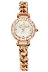 ราคา Kimio นาฬิกาข้อมือผู้หญิง สีทอง โรสด์โกล์ด สายสแตนเลส รุ่น Kw6030 Kimio ใหม่
