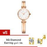 ราคา Kimio นาฬิกาข้อมือผู้หญิง สายสแตนเลส รุ่น Kw6041 Rose Gold แถมฟรี ต่างหู Sq Diamond Earring มูลค่า 199 ใหม่