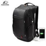ซื้อ Kingsons Ks3140W 17 Inches City Elite Bag Designer Laptop Backpack Water Resistant Anti Theft Laptop Rucksack With Usb Charging Port Black Intl ถูก