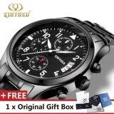 ราคา Kinyued Brand Luxury Stainless Steel Watch Men Business Casual Quartz Watches Military Wristwatch Waterproof Intl ใหม่