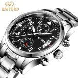 ราคา Kinyued Brand Luxury Stainless Steel Watch Men Business Casual Quartz Watches Military Wristwatch Waterproof Intl ราคาถูกที่สุด