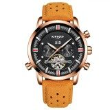 ส่วนลด Kinyued Business Watch 3Atm Water Resistant Automatic Mechanical Watch Luminous Genuine Leather Wristwatch Male Relogio Musculino Calendar Intl