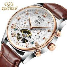 ซื้อ Kinyued Top Brand Mechanical Watch Luxury Men Business Watchs Genuine Leather Band 3Atm Waterproof Calendar Function Mens Famous Male Watches Clock For Men Wrist Watch Int L จีน