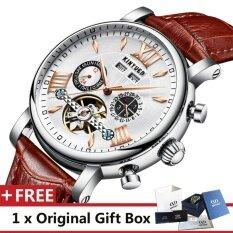Kinyued นาฬิกาสุดหรูยี่ห้อผู้ชายนาฬิกาสุดหรูนาฬิกาหนังแท้ 3Atm นาฬิกากันน้ำนาฬิกาบุรุษผู้ทรงคุณวุฒินาฬิกานาฬิกาสำหรับผู้ชายนาฬิกาข้อมือ J017P นานาชาติ ใน จีน