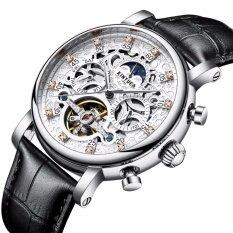 ราคา Kinyued Top Brand Mechanical Watch Luxury Men Business Watchs Genuine Leather Band 3Atm Waterproof Calendar Function Mens Famous Male Watches Clock For Men Wrist Watch J026P Intl เป็นต้นฉบับ