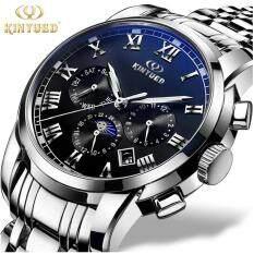 ราคา Kinyued Top Brand Mechanical Watch Luxury Men Business Watchs Stainless Steel Band 3Atm Waterproof Calendar Function Mens Famous Male Watches Clock For Men Wrist Watch Int L ใหม่ล่าสุด
