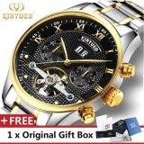 ราคา Kinyued Top Brand Mechanical Watch Luxury Men Business Watchs Stainless Steel Band 3Atm Waterproof Calendar Function Mens Famous Male Watches Clock For Men Wrist Watch Intl ใน จีน