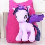 ความคิดเห็น Kisnow 2 In 1 Kids Baby Super Soft Unicorn Plush Horse Sch**L Travel Shoulder Bag Backpacks Color Purple Intl