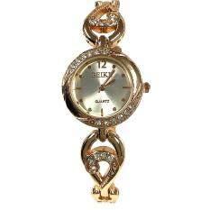 ราคา ราคาถูกที่สุด Kiushar นาฬิกาข้อมือผู้หญิง สไตล์เกาหลี สีทอง เพชร รุ่น Wm0079