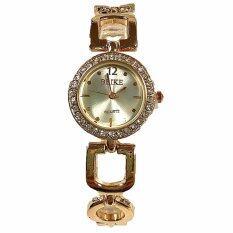 ซื้อ Kiushar นาฬิกาข้อมือผู้หญิง สไตล์เกาหลี สีทองเพชร รุ่น Wm0080 ออนไลน์ ถูก