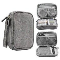 ทบทวน Kobwa Electronics Accessories Storage Bag Portable Universal Data Cables Organizer Digital Device Holder Intl