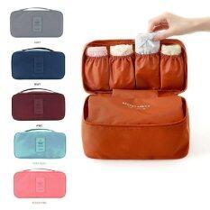ราคา Korean Storage Bag Second Generation Bra Bag Clothing Underwear Finishing Bag Portable Wash Bag Blue Intl Unbranded Generic ใหม่