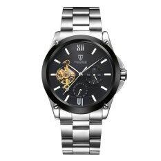 ขาย Korean Style Men S Watch Steel Strap Waterproof Business Watch Intl Black ถูก