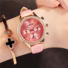 นาฬิกาข้อมือควอตซ์กันน้ำสุดประณีต สไตล์ผู้หญิงเกาหลี.