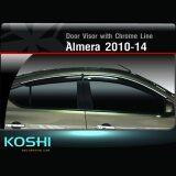 ขาย Koshi กันสาดคิ้วโครเมี่ยม Nissan Almera 2010 14 4ชิ้น ถูก