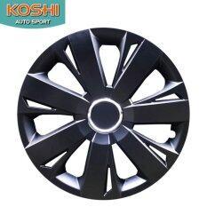 Koshi Wheel Cover ฝาครอบกระทะล้อ 15 นิ้ว ลาย 5077bp (4ฝา/ชุด) สีดำ By Koshi Autosport.