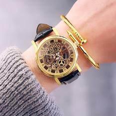 Kpshop นาฬิกาผู้หญิงสายหนัง นาฬิกาข้อมือแฟชั่น นาฬิกาสวยๆของผู้หญิง รุ่น Lc 034 สีทอง Kpshop ถูก ใน กรุงเทพมหานคร