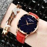 ส่วนลด Kpshop นาฬิกาผู้หญิงสายหนัง นาฬิกาข้อมือแฟชั่น นาฬิกาผู้หญิงนิยม รุ่น Lc 068 สีแดง