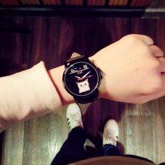 ราคา Kpshop นาฬิกาผู้หญิงสายหนัง นาฬิกาข้อมือแฟชั่น นาฬิกาสำหรับผู้หญิง รุ่น Lc 010 สีดำ ราคาถูกที่สุด