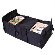 ราคา กระเป๋าอเนกประสงค์ กล่องเก็บของหลังรถ พับเก็บได้ แบ่งออกเป็น 3 ช่อง จุของได้เยอะ เก็บความเย็น สีดำ เป็นต้นฉบับ