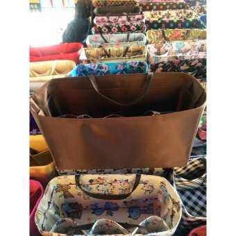 กระเป๋าจัดระเบียบขนาด 25CM (สีน้ำตาล) ที่จัดระเบียบในกระเป๋าถือ 25 เซนติเมตร Bag Organize 25CM Bag in Bag Organize  (BROWN) T0100