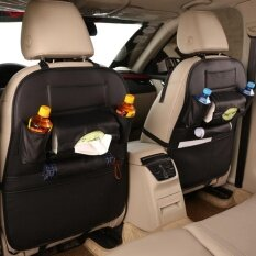 ความคิดเห็น กระเป๋าเก็บของหลังเบาะ กระเป๋าเก็บของในรถ แบบหนัง สี ดำ แพ็คคู่ 2 ชิ้น