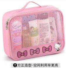 ซื้อ ล้างถุงกระเป๋าถือน่ารัก Kt แมวความจุขนาดใหญ่เดินทาง Hellokitty ออนไลน์
