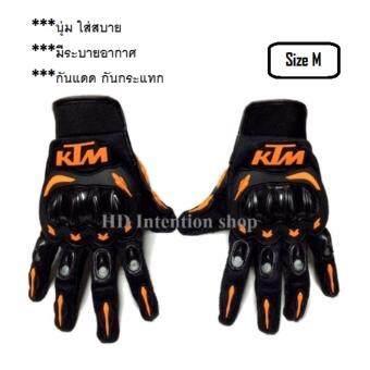 KTM ถุงมือขับมอเตอร์ไซค์ เต็มนิ้ว