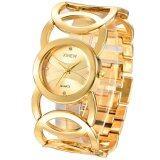 ราคา Ladies Fashion Stainless Steel Bracelet Watch(Gold) Intl Unbranded Generic จีน