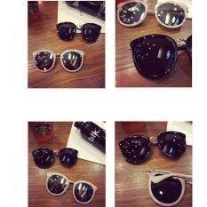 ขาย ซื้อ Ladies Sunglasses 2016 Round Glasses Sunshade Trendsetter Shell Powder จีน