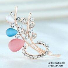 ความคิดเห็น Lan Ting Shi Jia เข็มกลัดติดอกสำหรับผู้หญิง คริสตัลเพชรหินตาแมวเทียม