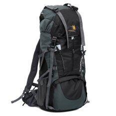 Large Capacity Waterproof Nylon Backpack Mountaineering Black จีน