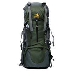 ขาย Large Capacity Waterproof Nylon Backpack Mountaineering Green