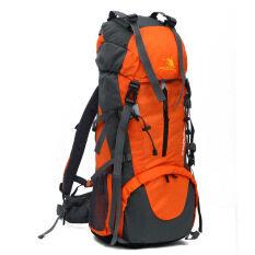 ขาย กระเป๋าเป้สะพายหลังทำจากไนลอนขนาดใหญ่ที่สามารถกันน้ำได้สีส้ม