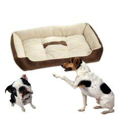 Large Pet Affinity Dogs Soft Warm Bed Washable Supplies Brown L Intl ใน จีน