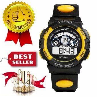 นาฬิกาข้อมือดิจิตอลไสตล์กีฬาจอ LCD ของขวัญเด็กและวัยรุ่นชายคละสี