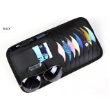 ราคา Leather Auto Car Vehicle Sunshade Sun Visor Cd Card Glasses Holder Black Intl ใหม่