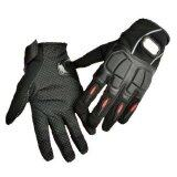 Leather Motorcycle Racing Hand Full Finger Protection Gloves Black M Intl ถูก