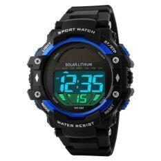 ซื้อ แบรนด์ผู้ชายกลางแจ้งกีฬาใหม่พลังงานแสงอาทิตย์ Led นาฬิกาดิจิตอล 50 เมตรกันน้ำกระแทก Wristwatches นานาชาติ Bounabay ออนไลน์