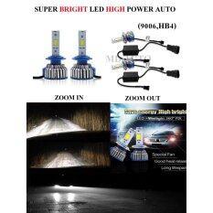 โปรโมชั่น Led ไฟหน้ารถยนต์ Super Bright 6000K หลอด Led 100 ระบบ Auto Led 9006 Hb4 ถูก