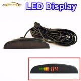 Led Display For Car Parking Sensor Kit Backlight Reverse Backup Monitor System 12V Intl ใหม่ล่าสุด