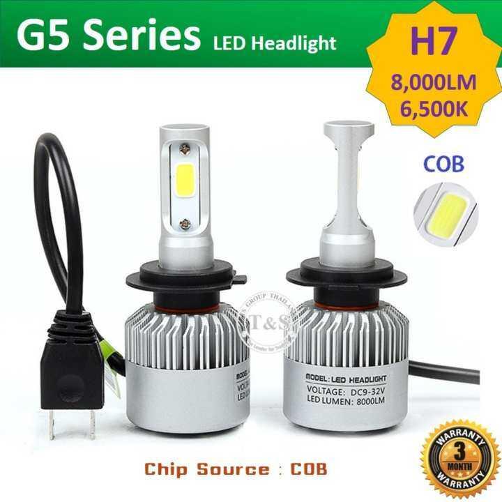 รีวิว LED ไฟหน้ารถยนต์ LED รุ่น G5 ขั้วหลอด H7