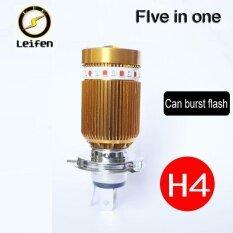 ส่วนลด Leifen Motorcycle Led Headlight H4 Angel Eye Lens Light Far And Near Light Bright Spotlight Flashing Headlamps 12V Modified Lights Colorful Lights Bulb Intl