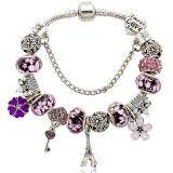 โปรโมชั่น Leyi Ladies Fashion Crystal Beaded Bracelet Pink Intl ใน จีน