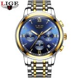 Lige Men Watch Top Brand Luxury Business Sport Chronograph Stainless Steel Quartz Wrist Watch Men Clock Male Relogio Masculino 9817 Intl ถูก