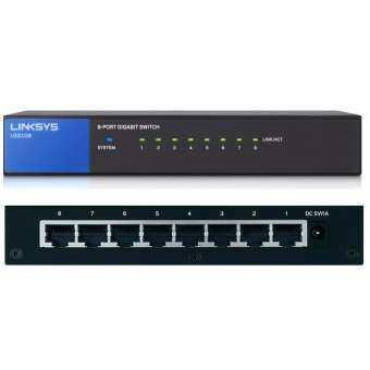 ซื้อที่ไหน Linksys Unmanaged Switches 8 port Gigabit – Black