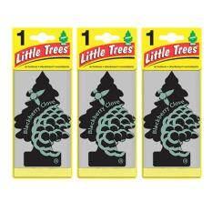 ราคา Little Trees® แผ่นน้ำหอมปรับอากาศ รูปต้นไม้ กลิ่น Blackberry Clave จำนวน 3 ชิ้น เป็นต้นฉบับ Little Trees