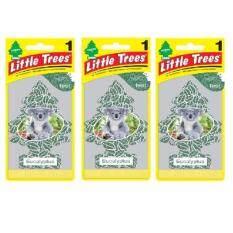 ซื้อ Little Trees® แผ่นน้ำหอมปรับอากาศ รูปต้นไม้ กลิ่น Eucalyptus จำนวน 3 ชิ้น