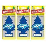 ทบทวน ที่สุด Little Trees® แผ่นน้ำหอมปรับอากาศ รูปต้นไม้ กลิ่น Ocean Mist จำนวน 3 ชิ้น